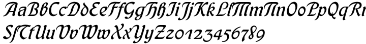 Behrens Kursiv™ Font Sample