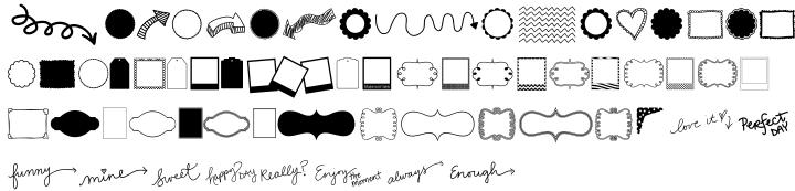 KG Flavor And Frames Three Font Sample
