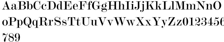 Modern No. 20 Font Sample