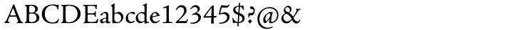 Adobe Jenson Pro® Font Sample