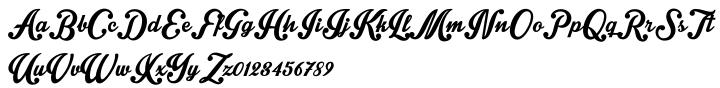 Intrique Script Font Sample