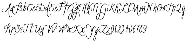BachelorScript Font Sample