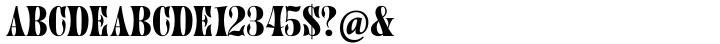 Juniper® Font Sample