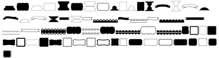 KG Flavor And Frames Five Font Sample