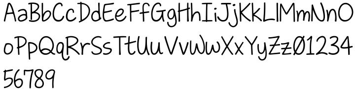KG Love Somebody Font Sample