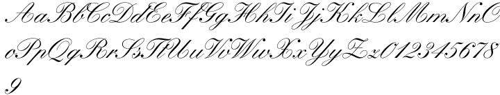 Kuenstler Script® Font Sample