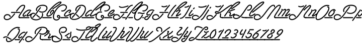 Las Enter Font Sample