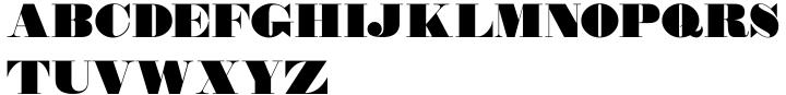 Wood Type Bodoni JNL Font Sample