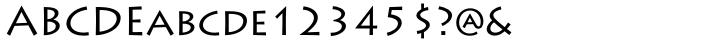 Lithos® Font Sample