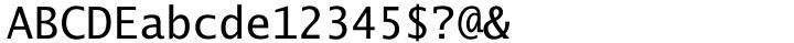 Lucida Sans Typewriter® Font Sample