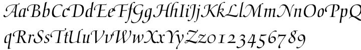 Medici Script™ Font Sample