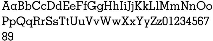 Memphis® Font Sample