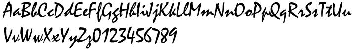 Mistral® Font Sample