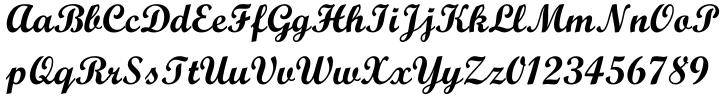 Script MT™ Font Sample