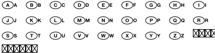 National Codes Pi™ Font Sample
