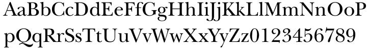 ITC New Baskerville® Font Sample