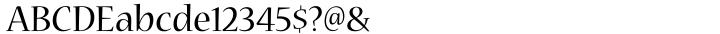 Nueva® Font Sample