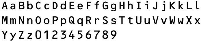 OCR-B Font Sample