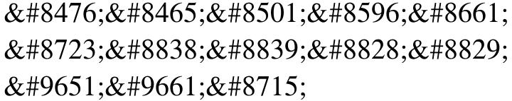 Symbol Font Sample