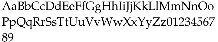 Palatino® Font Sample
