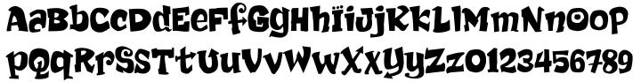 Chub™ Font Sample