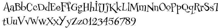 Couchlover Font Sample