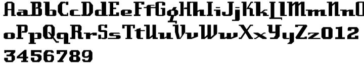 Laundry Font Sample