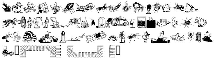 Backyard Beasties Font Sample