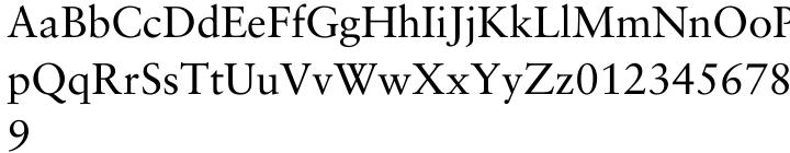 Sabon® Font Sample