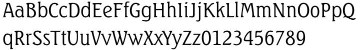 Seagull™ Font Sample