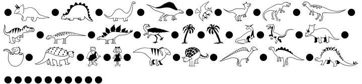 Dinosaurs™ Font Sample