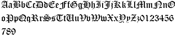 Old English Text™ Font Sample