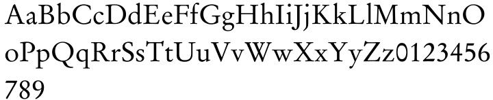 Stempel Garamond™ Font Sample