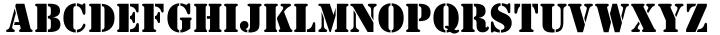 Stencil™ Font Sample