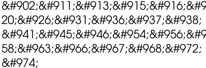 URW Gothic™ Font Sample
