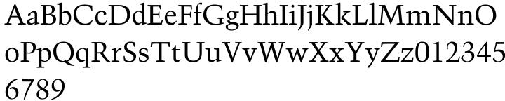 Trump Mediaeval® Font Sample