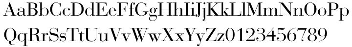 Bauer Bodoni® EF Font Sample
