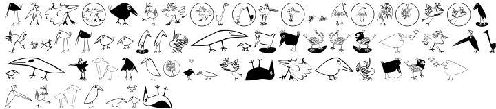 EF Birds™ Font Sample