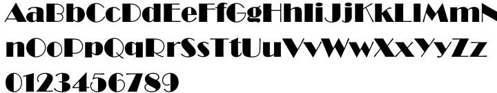 Broadway EF Font Sample