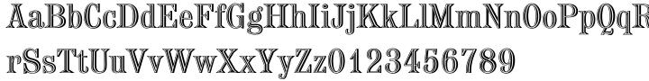Chisel EF Font Sample