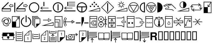 EF Copier Pi™ Font Sample