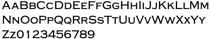 Copperplate EF™ Font Sample