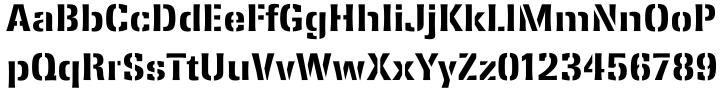 Ferro Stencil EF™ Font Sample