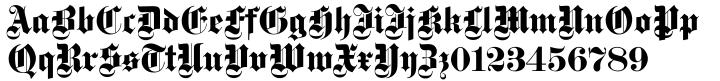 Gotisch EF Font Sample