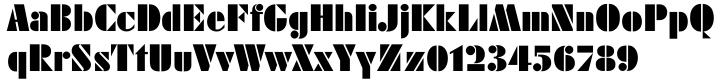 Geometric Stencil EF™ Font Sample
