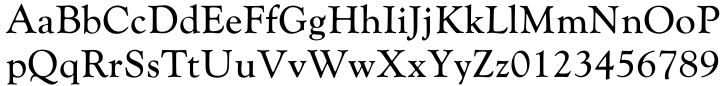 Goudy Catalogue EF Font Sample
