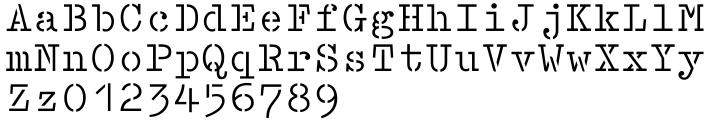 Lasertac Stencil EF™ Font Sample