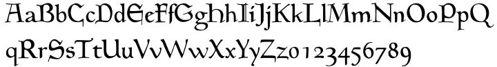 EF Medieva™ Font Sample