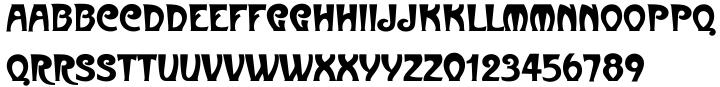 Metropolitain EF Font Sample