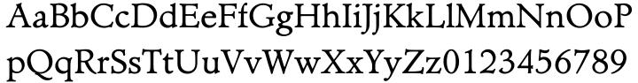Minister EF™ Font Sample